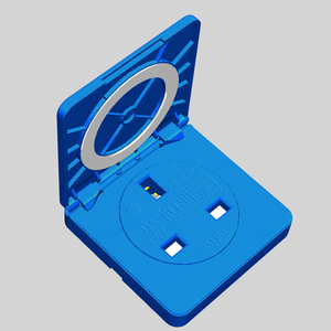 British splash socket blue